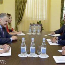 Արդարադատության նախարարն ընդունել է Հայաստանում Արգենտինայի դեսպանին