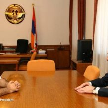 Բակո Սահակյանն ընդունել է «Թուֆենկյան» բարեգործական հիմնադրամի գործադիր տնօրեն Րաֆֆի Դուդաքլյանին