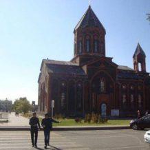 Արմեն Ամիրյանը տեղում գնահատել է Գյումրու Ս. Ամենափրկիչ եկեղեցու վերականգնման, տարածքի բարեկարգման ավարտական փուլի ծրագիրը