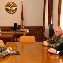 Արցախի նախագահն ընդունել է ՀՀ ԶՈՒ գլխավոր շտաբի պետ Մովսես Հակոբյանին